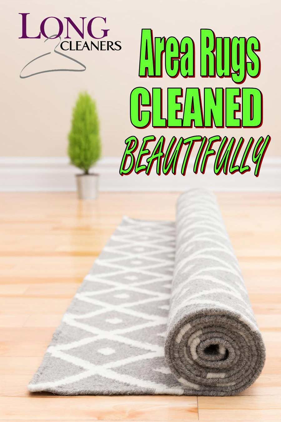 Area Rug Cleaning Services - Long Cleaners - Dayton Ohio - 937-866-4341