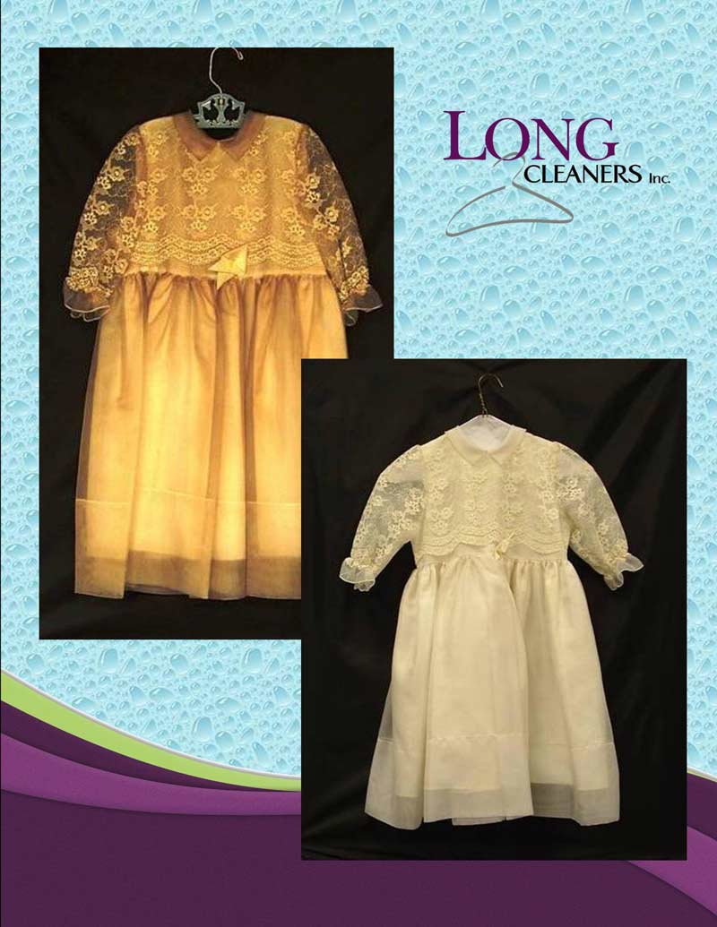 Wedding apparel cleaning restoration and preservation - Long Cleaners - Dayton Ohio - 937-866-4341