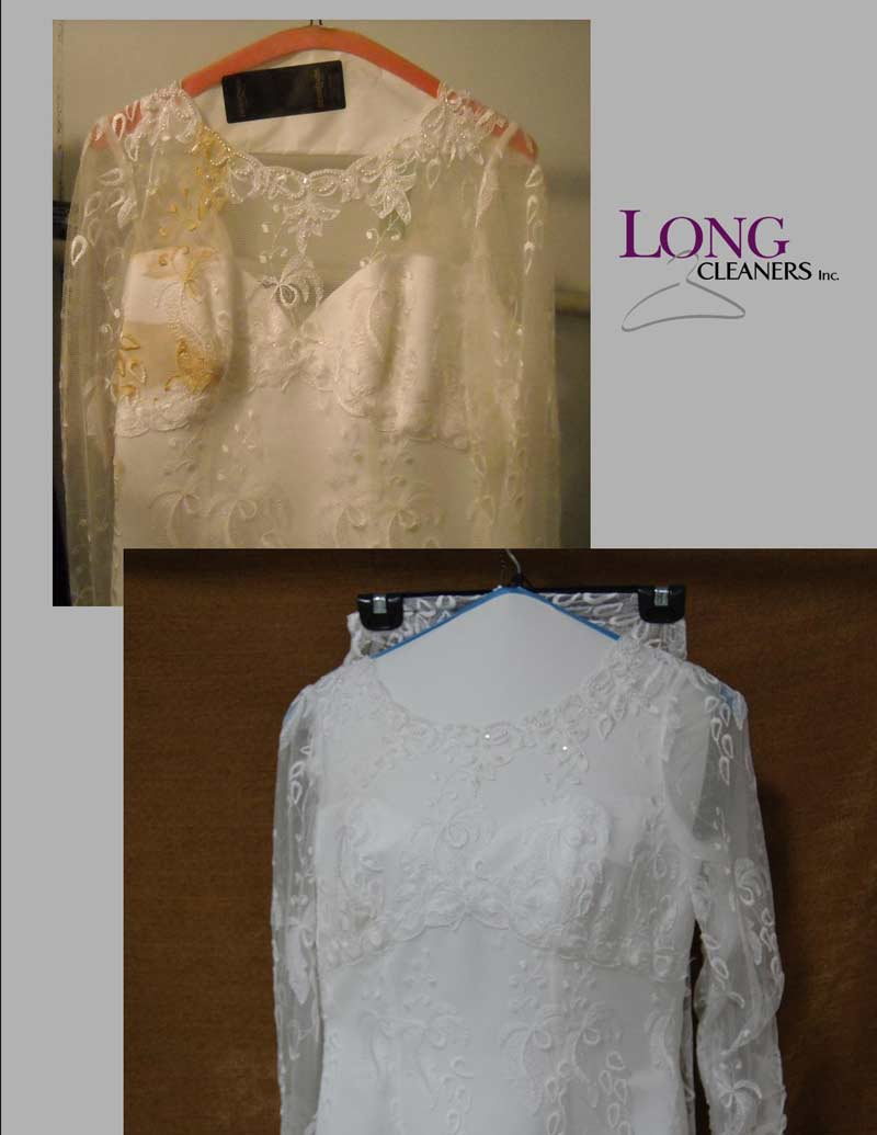 wedding gown cleaning and restoration dayton ohio - long cleaners - 937-866-4341