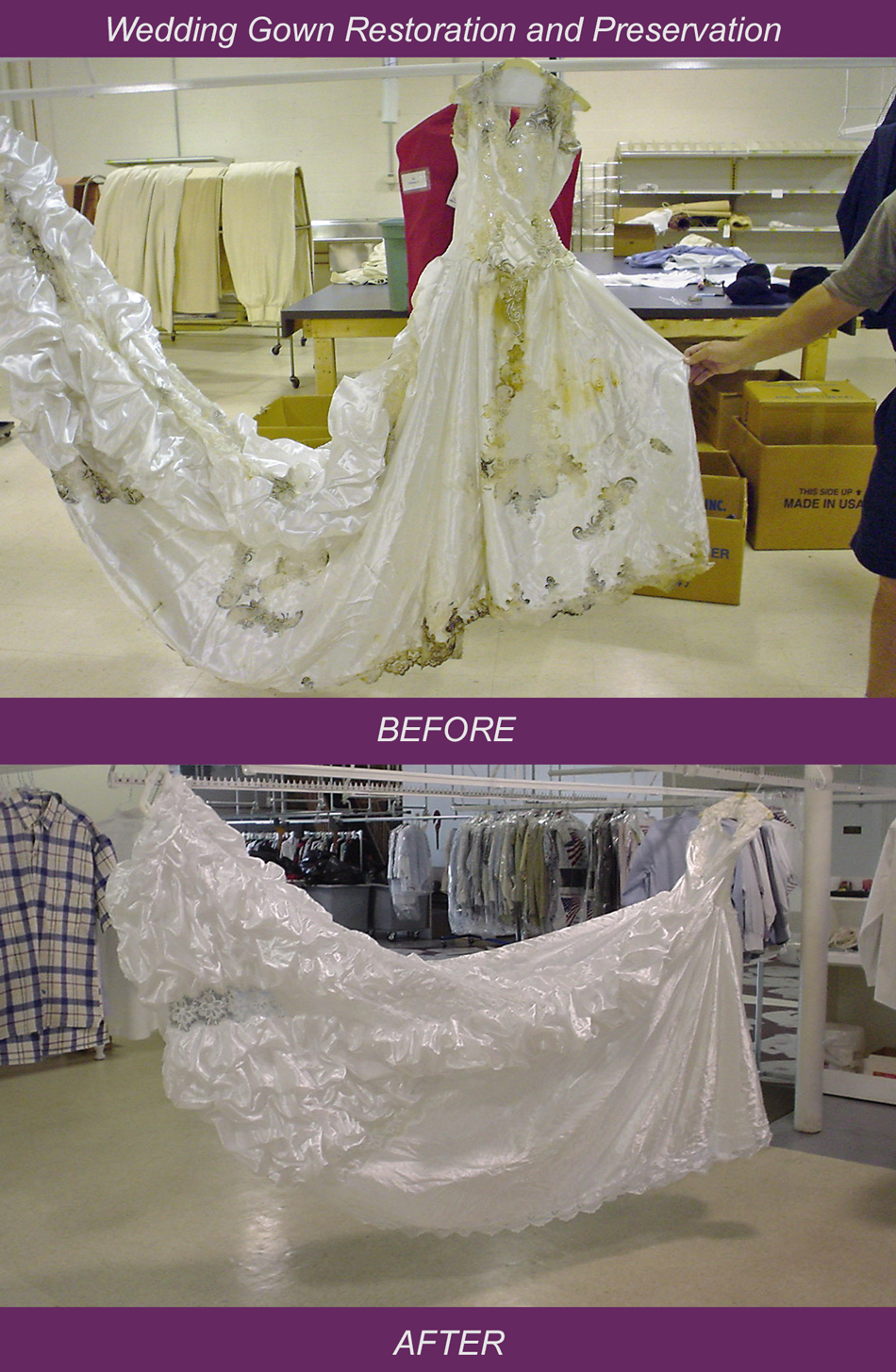 Wedding Gown Preservation and Restoration
