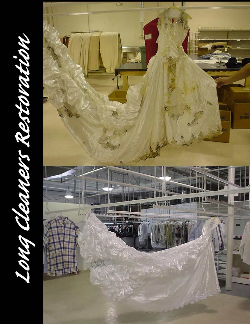 Wedding Gown Restoration and Preservation Dayton Ohio - Long Cleaners - 937-866-4341